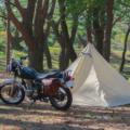 "<span class=""title"">バイクで行くソロキャンプ【初心者向け道具と注意点】</span>"